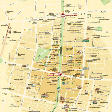 Zhongshan Shuanglian Walking Map