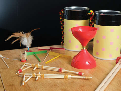 The majority of traditional toys can actually be made with everyday objects or found materials.