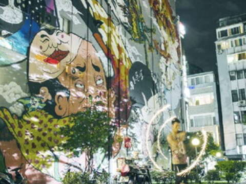 Walking Ximending, you spot myriad works of street graffiti in what is a showcase ofyouth culture. (Photo: Still from film The Mad King of Taipei; courtesy of Good Image Co.)